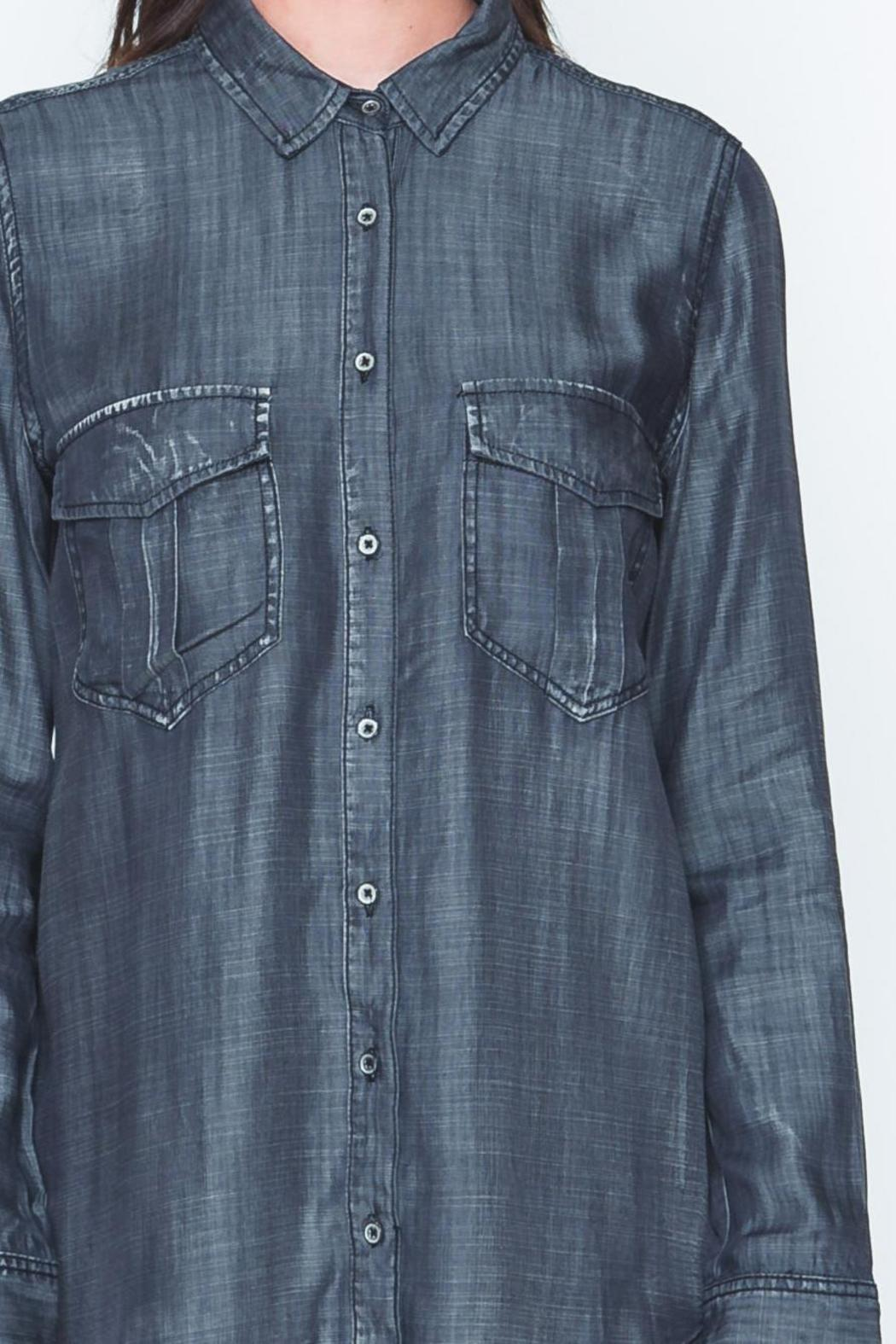 Movint Black Denim Shirt - Side Cropped Image