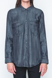 Movint Black Denim Shirt - Front cropped