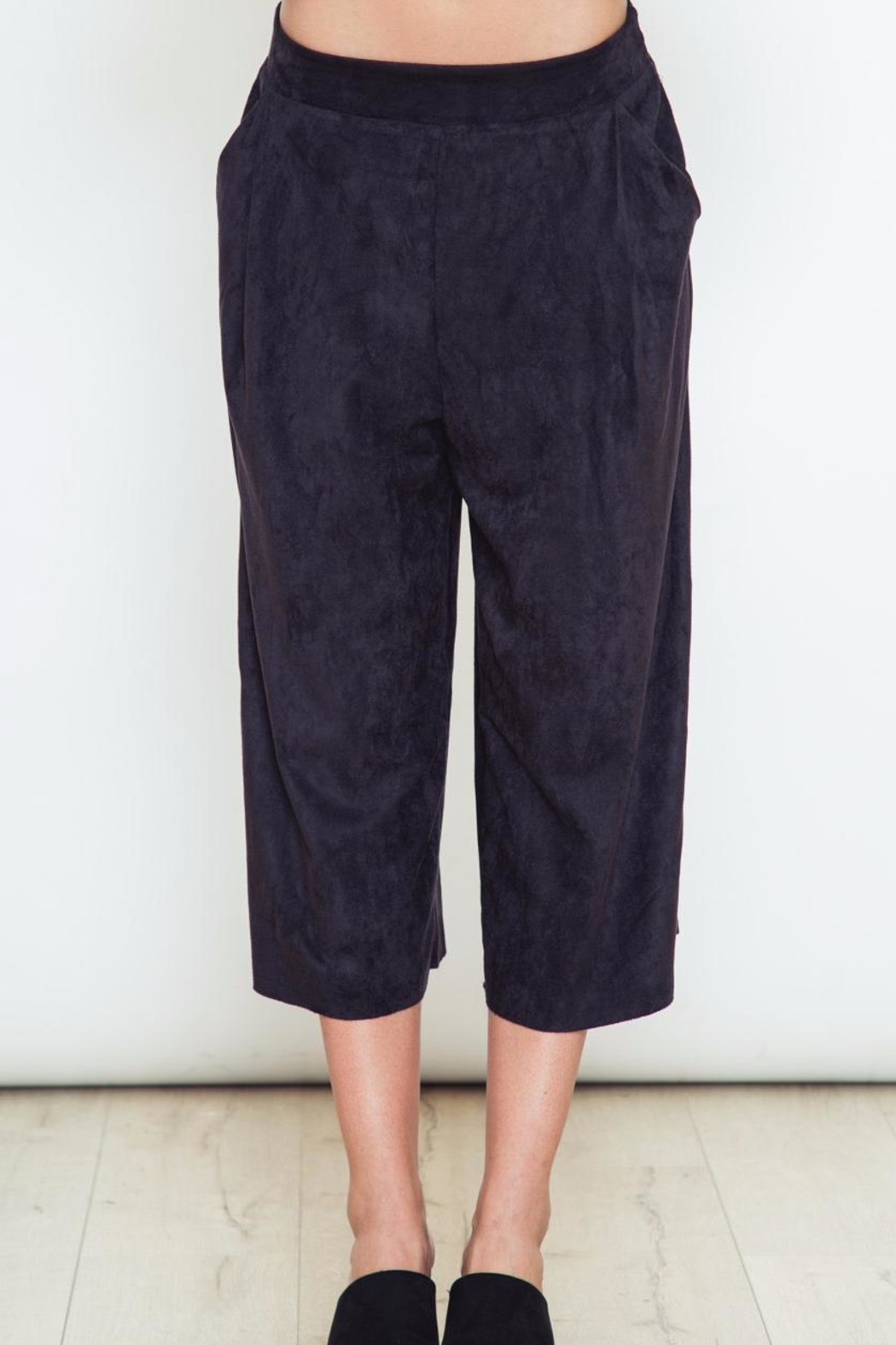 Movint Navy Blue Pants - Front Cropped Image