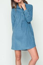 Movint Blue Corduroy Shirt Dress - Product Mini Image