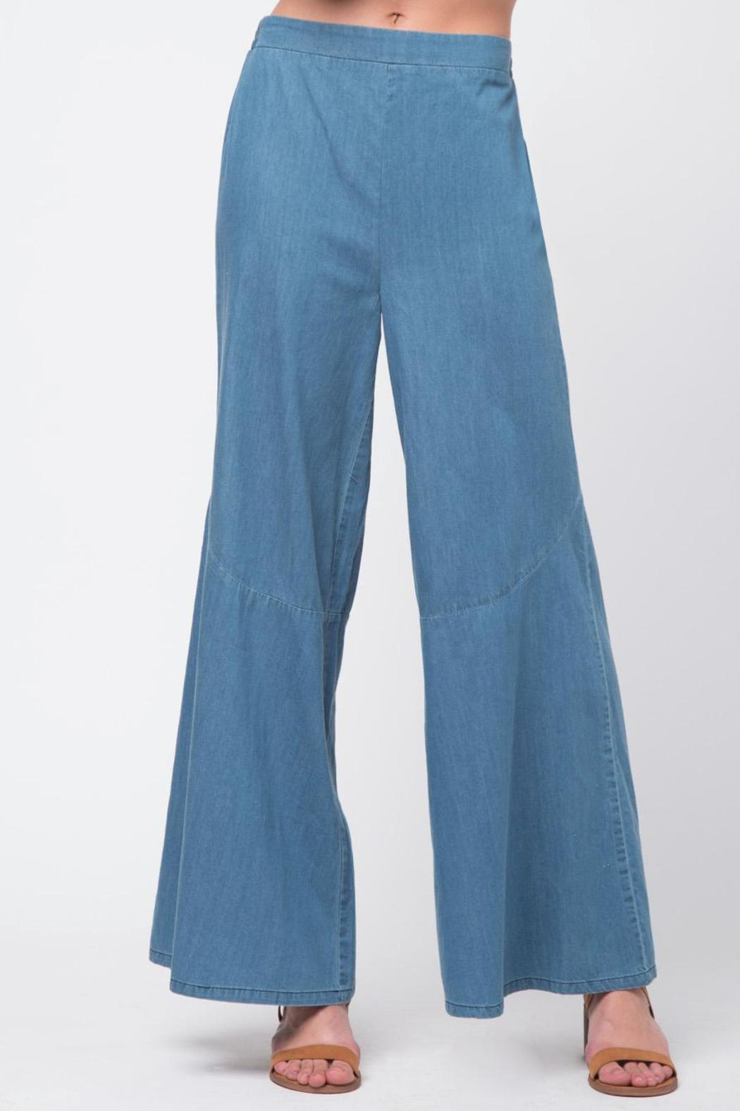 Movint Bottom Flare Detail Pants - Main Image
