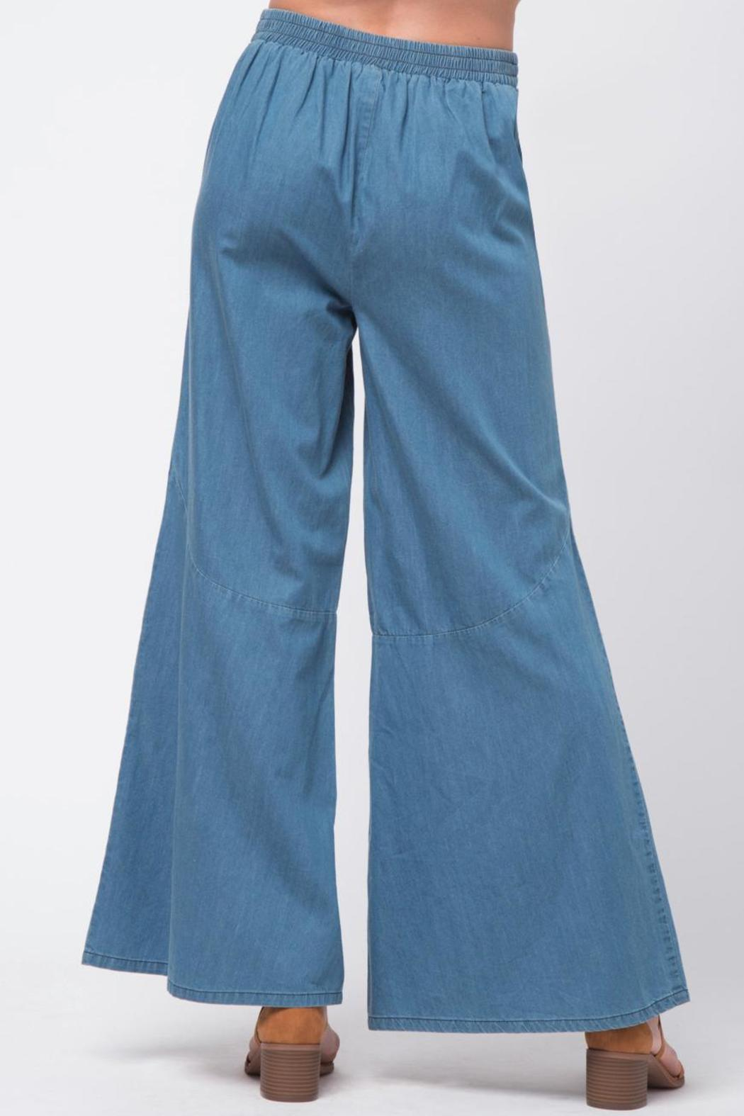 Movint Bottom Flare Detail Pants - Side Cropped Image