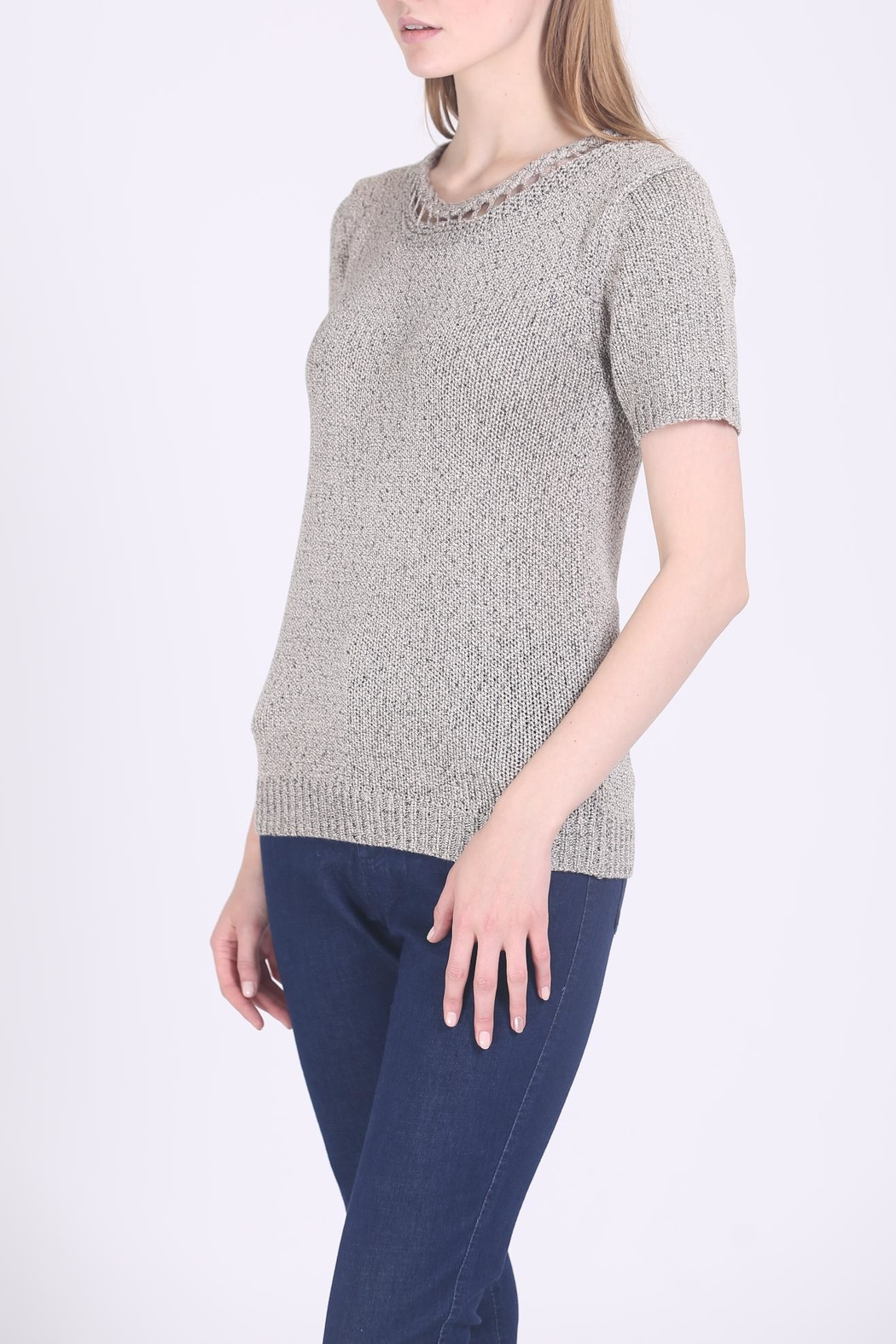 Movint Braid Detailed Sweater - Front Full Image
