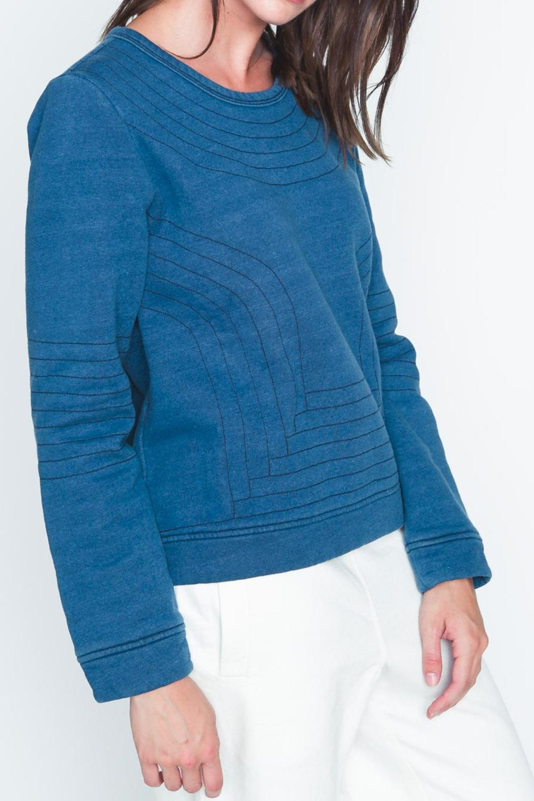 Movint Bristol Quilted Sweatshirt - Front Full Image