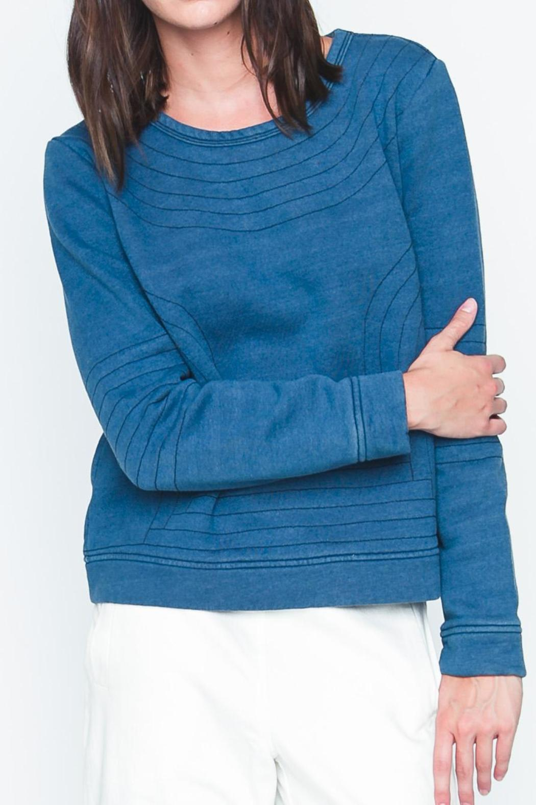 Movint Bristol Quilted Sweatshirt - Front Cropped Image