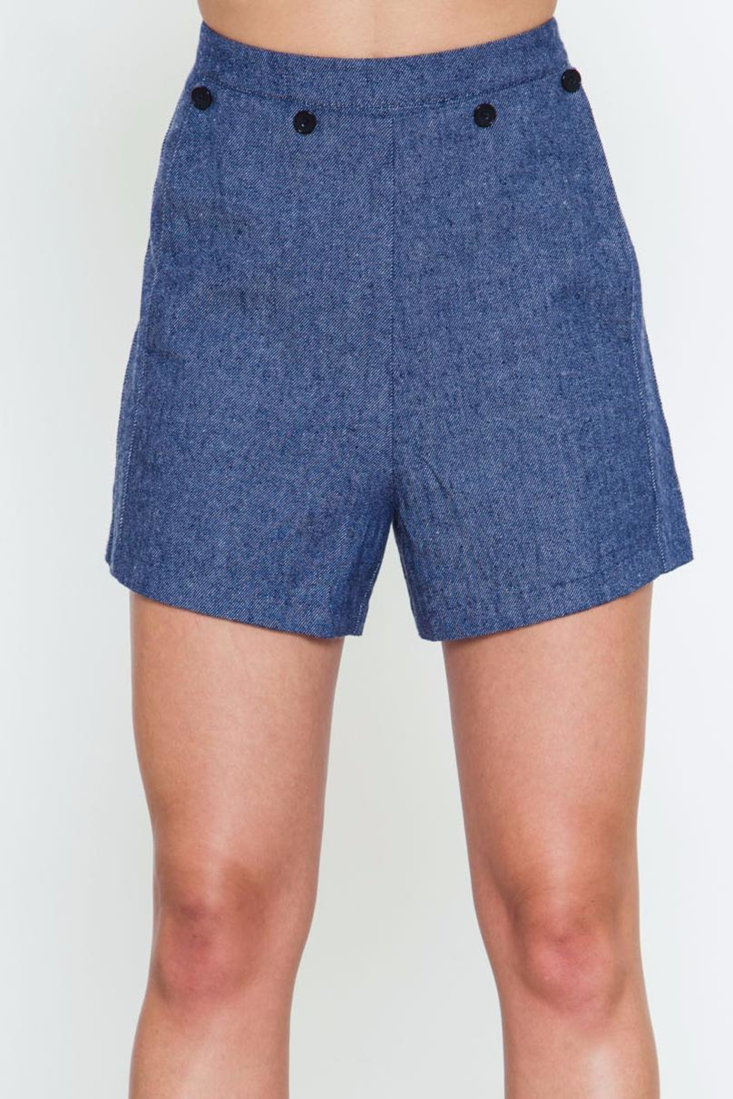Movint Button Detailed Shorts - Main Image