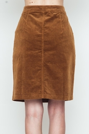Movint Button Down Camel Skirt - Side cropped