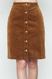 Movint Button Down Camel Skirt - Front cropped