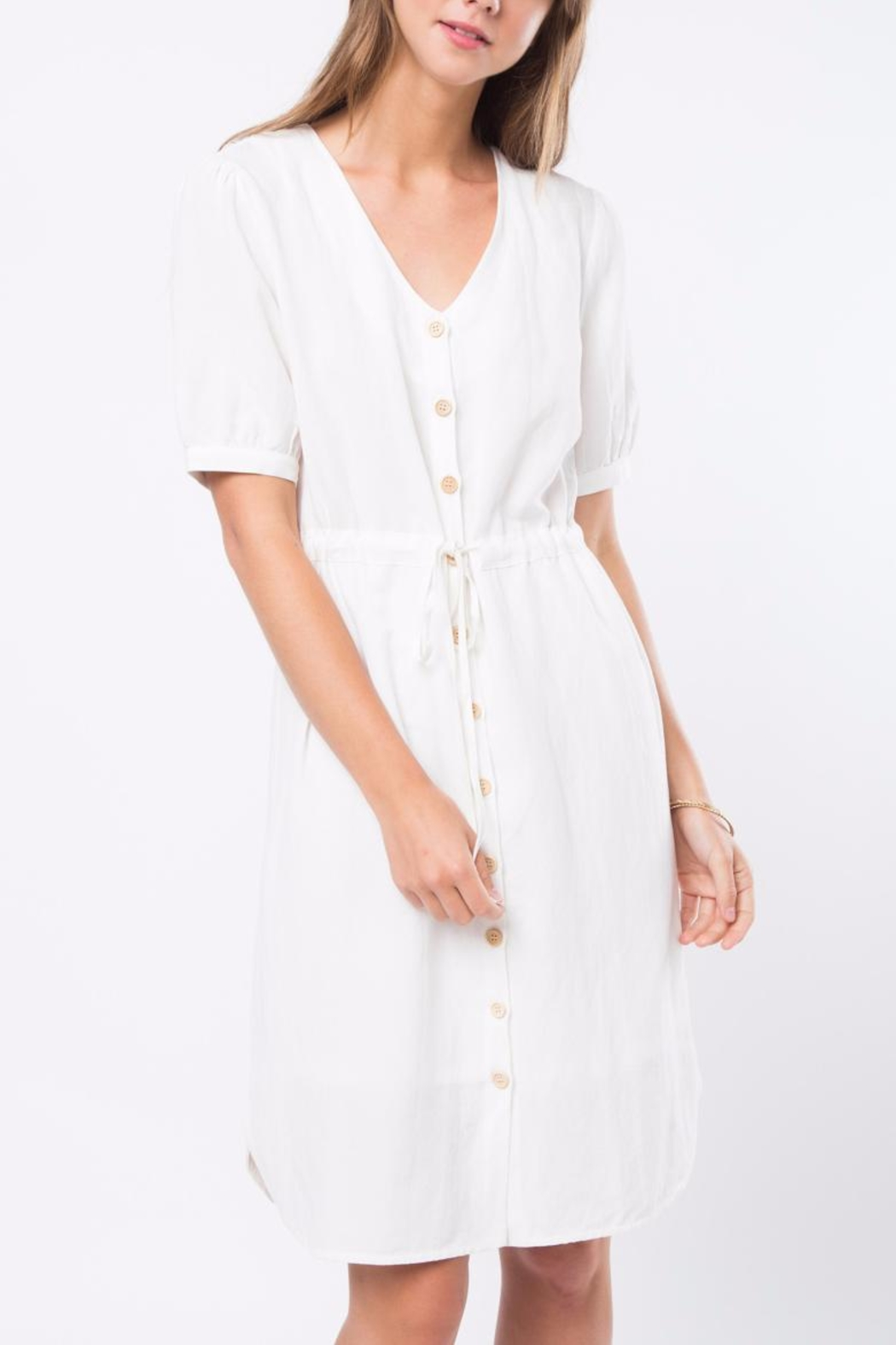 Movint Cara Blanc Dress - Front Cropped Image