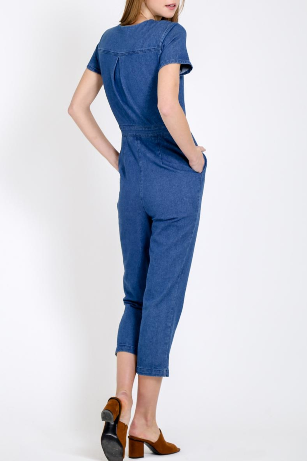 Movint Button Down Jumpsuit - Side Cropped Image