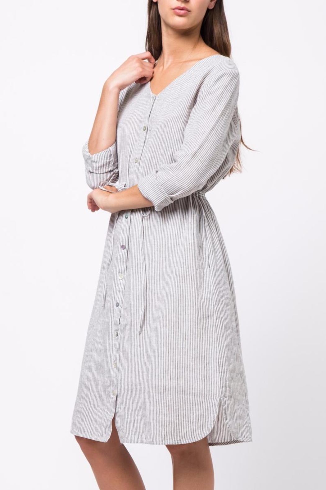 Movint Button Down Dress - Side Cropped Image
