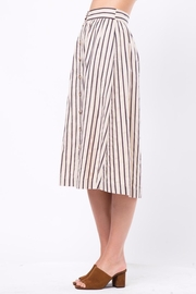 Movint Button-Front-Striped Long-Skirt With-Pocket - Side cropped