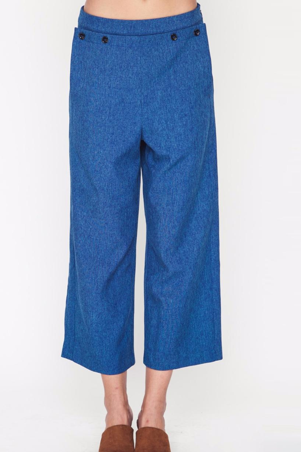 Movint Button Trim Pants - Front Cropped Image