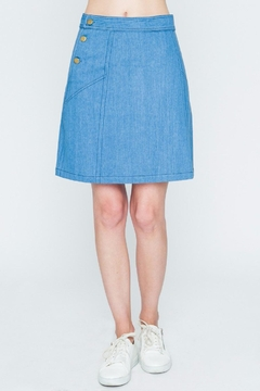 Shoptiques Product: Buttoned Denim Skirt
