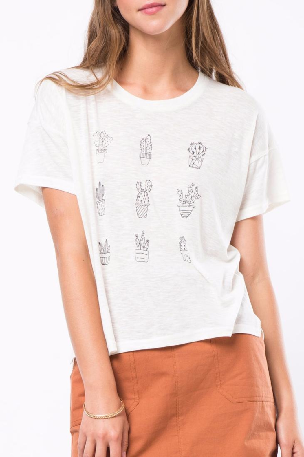Movint Cactus Print Shirt - Front Cropped Image