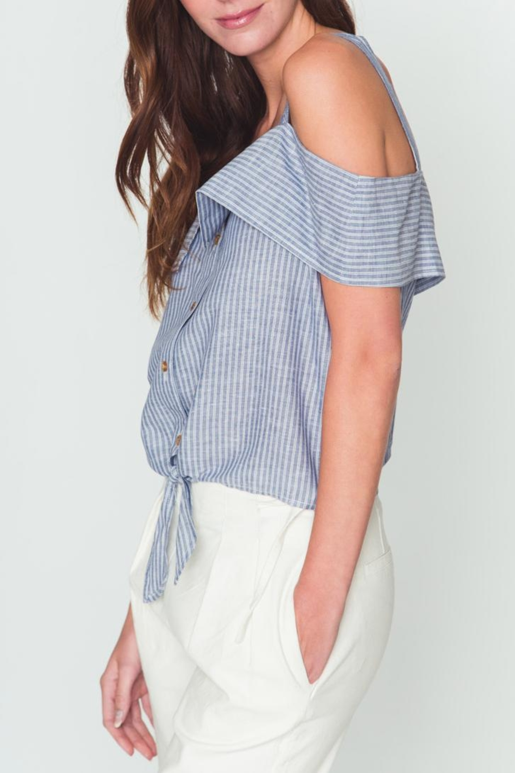 Movint Sorrow Cold Shoulder Top - Side Cropped Image