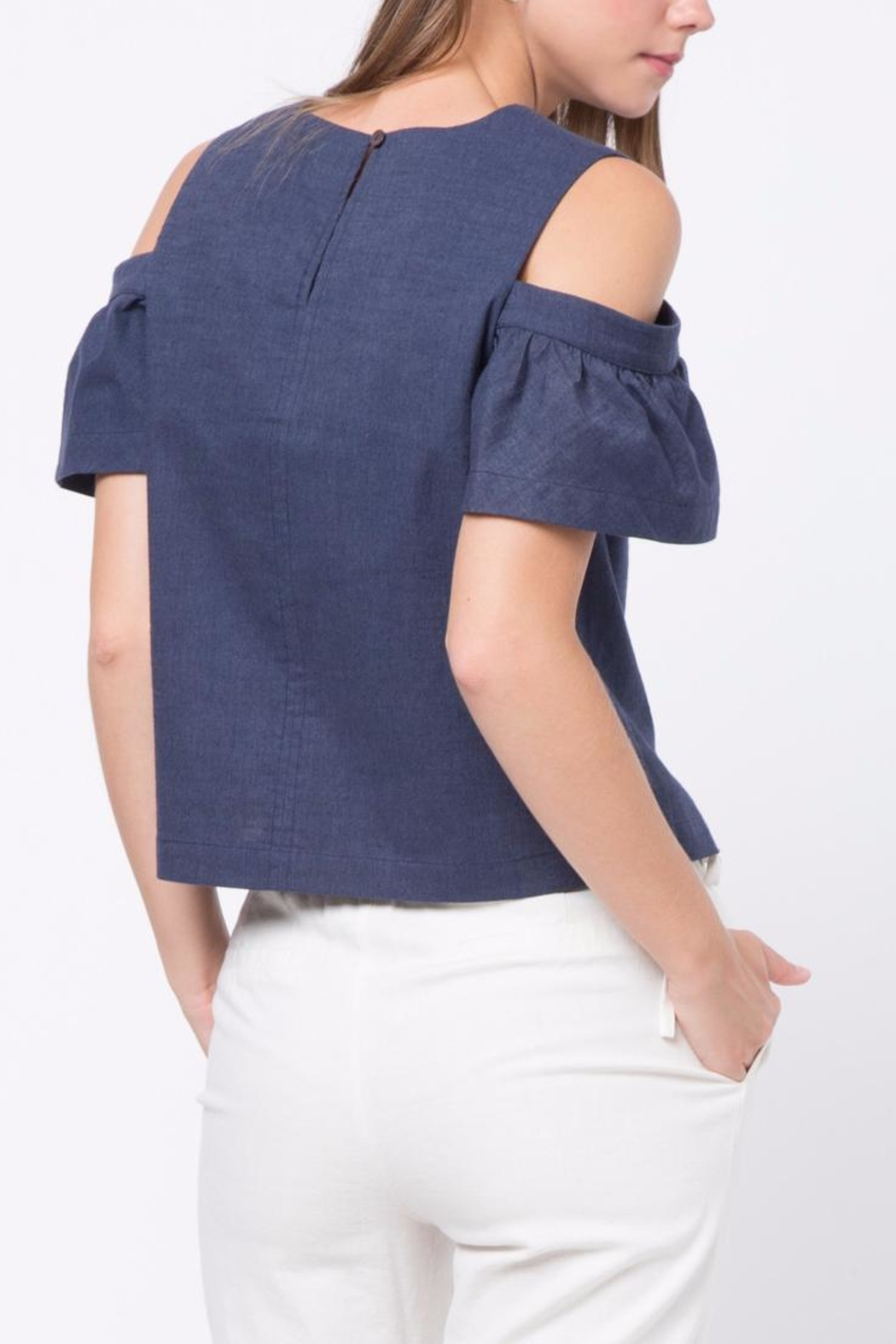 Movint Cold Shoulder Top - Front Full Image