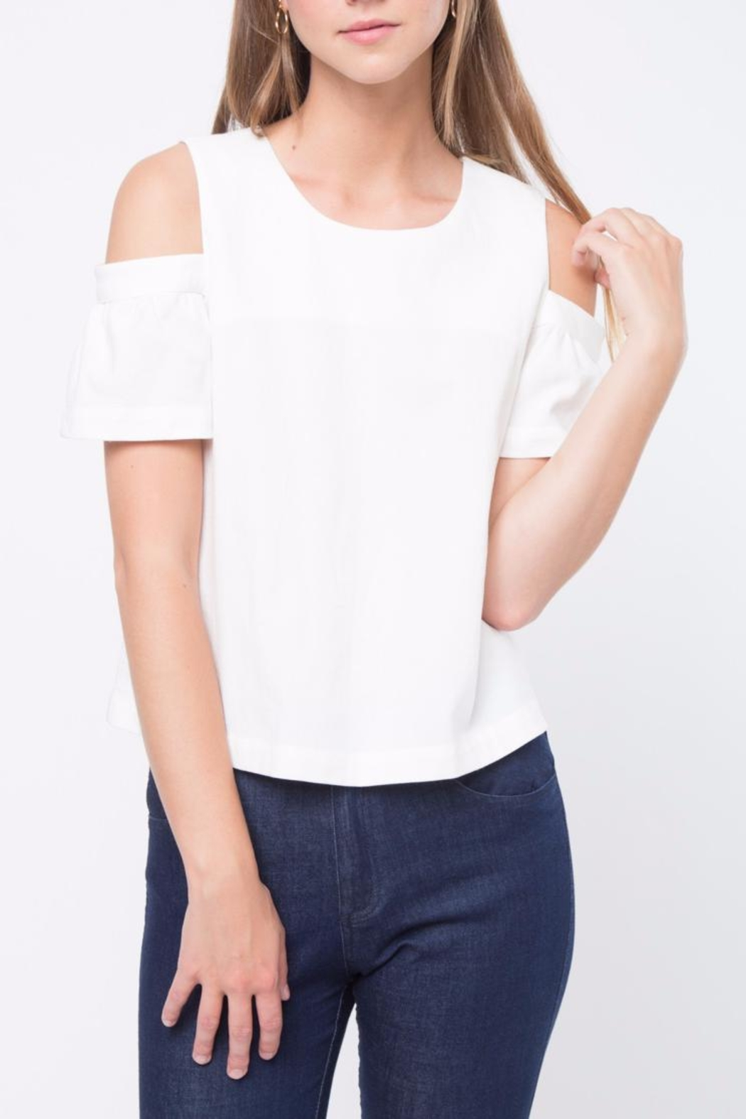 Movint Cold Shoulder Top - Front Cropped Image