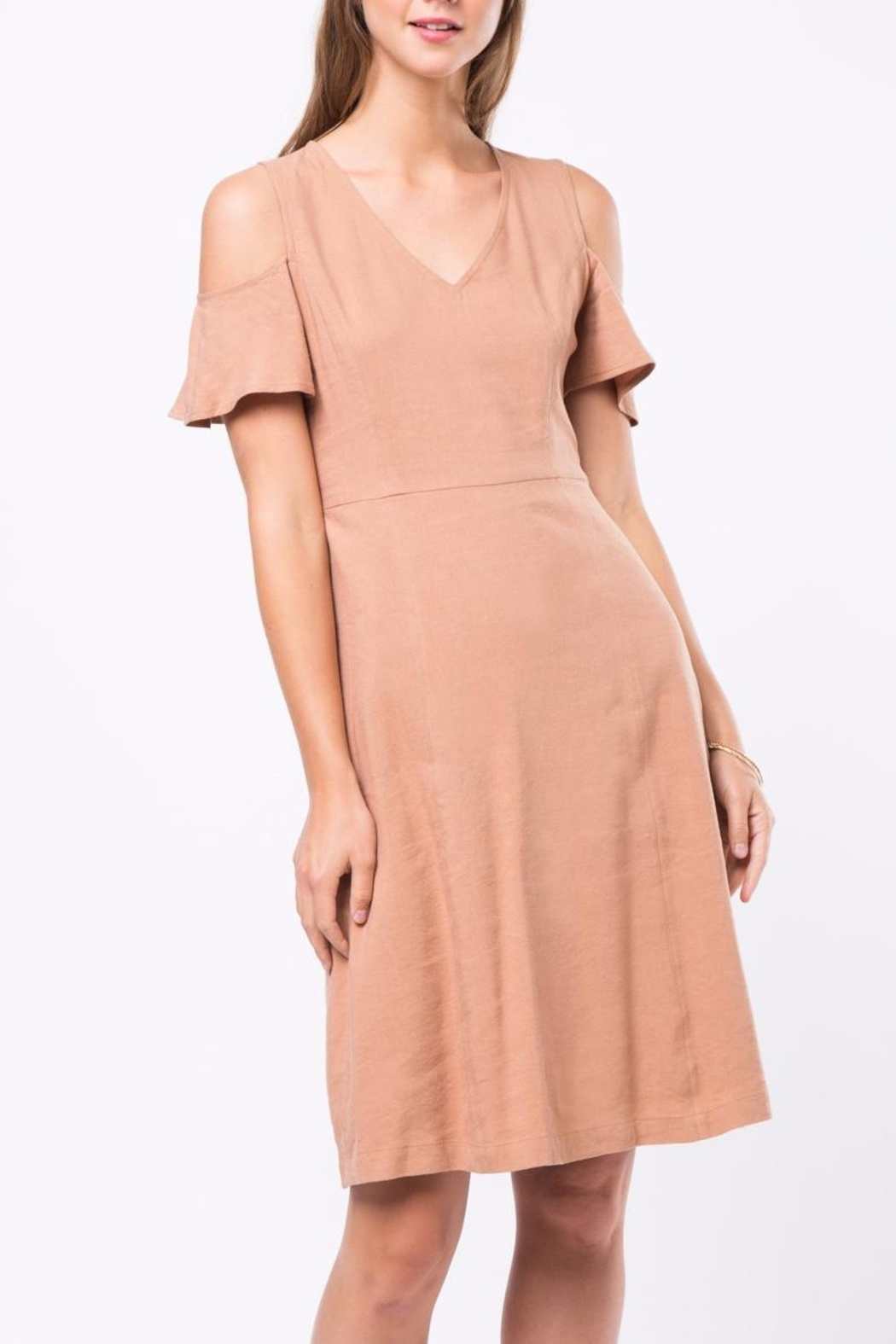 Movint Cold Shoulder Dress - Front Cropped Image