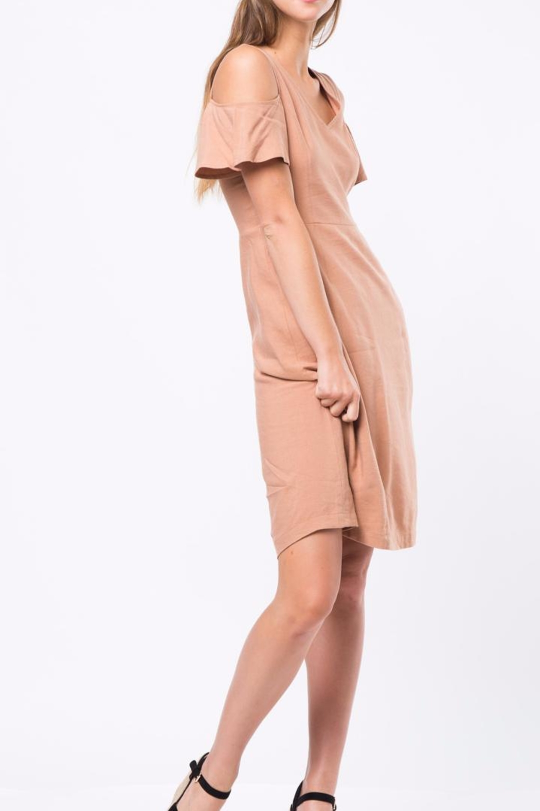 Movint Cold Shoulder Dress - Back Cropped Image