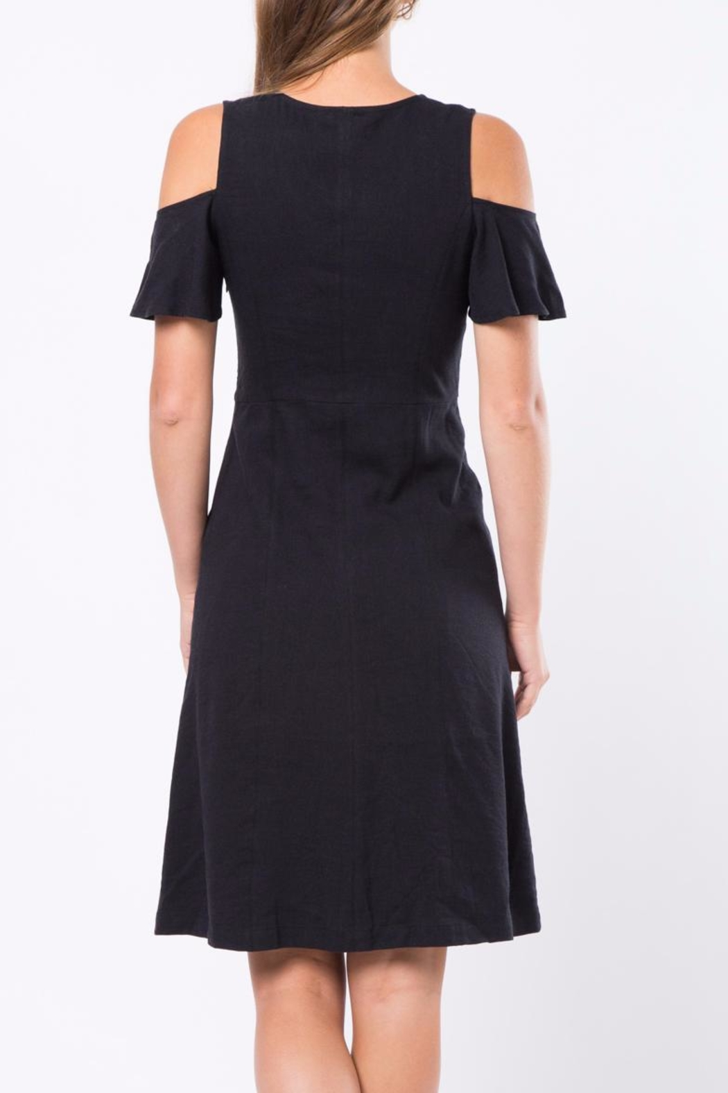 Movint Cold Shoulder Dress - Front Full Image