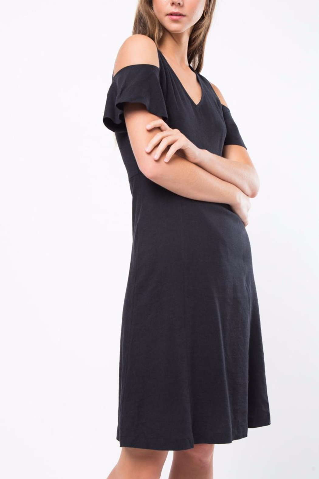 Movint Cold Shoulder Dress - Side Cropped Image