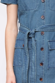 Movint Short Sleeve Denim Dress - Back cropped