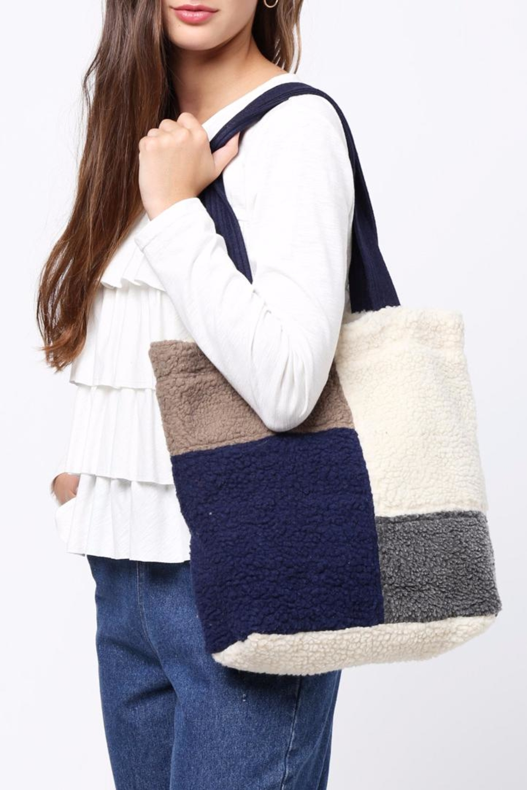 Movint Color Block Shoulder Bag - Main Image