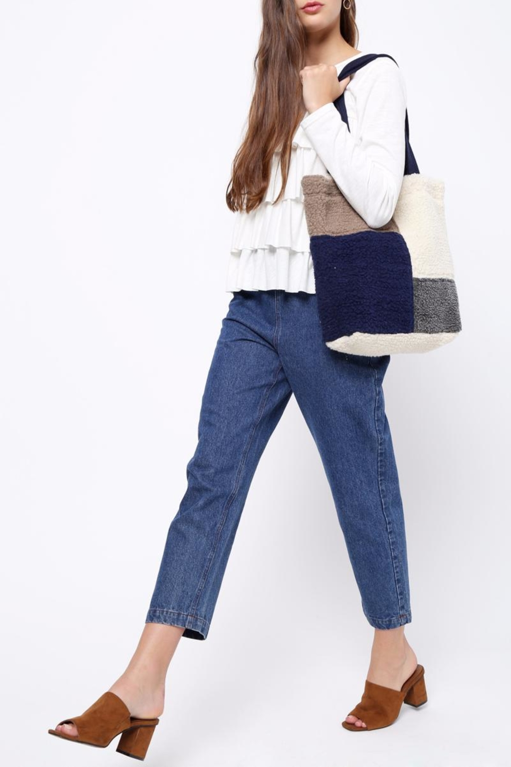 Movint Color Block Shoulder Bag - Side Cropped Image
