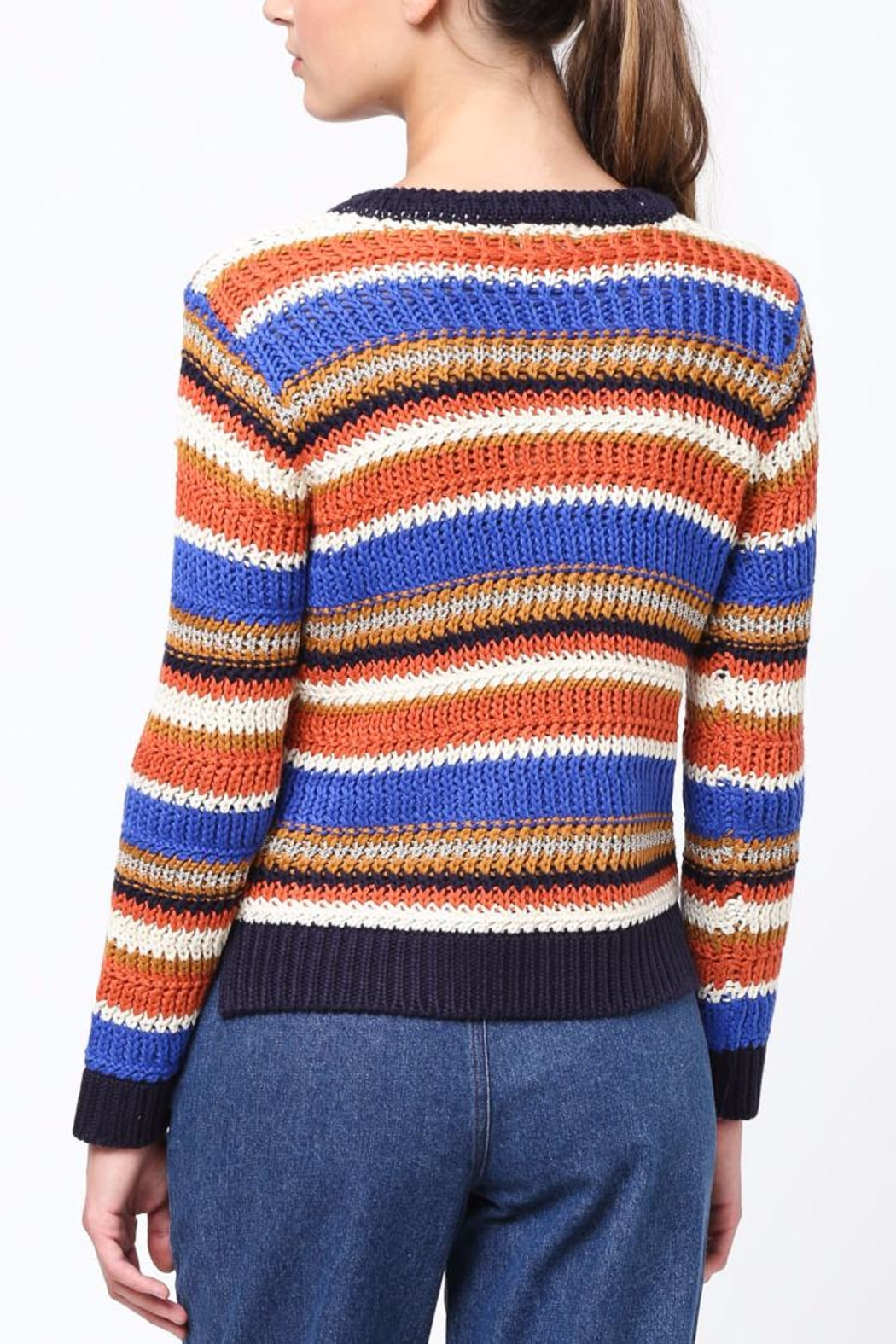 Movint Color Block Sweater - Front Full Image