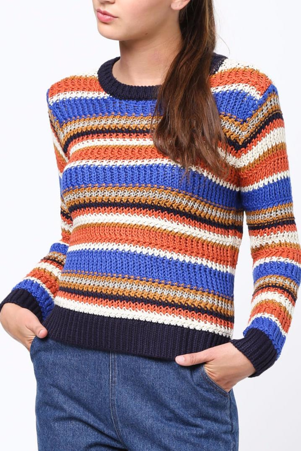 Movint Color Block Sweater - Side Cropped Image