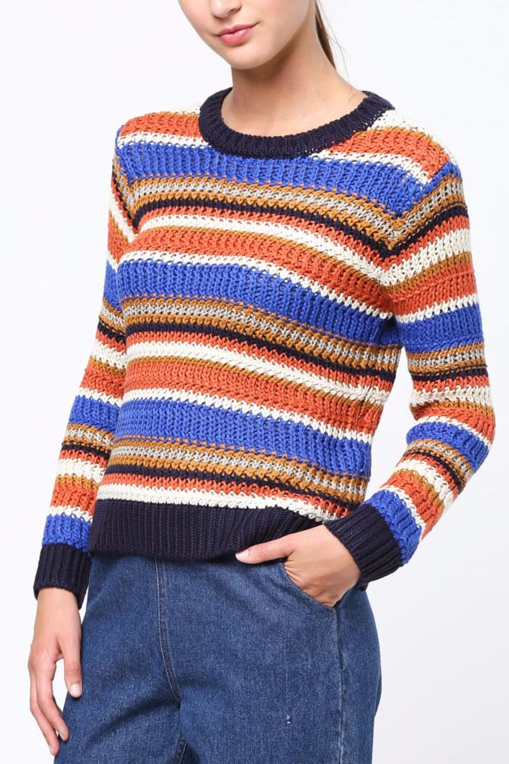 Movint Color Block Sweater - Main Image