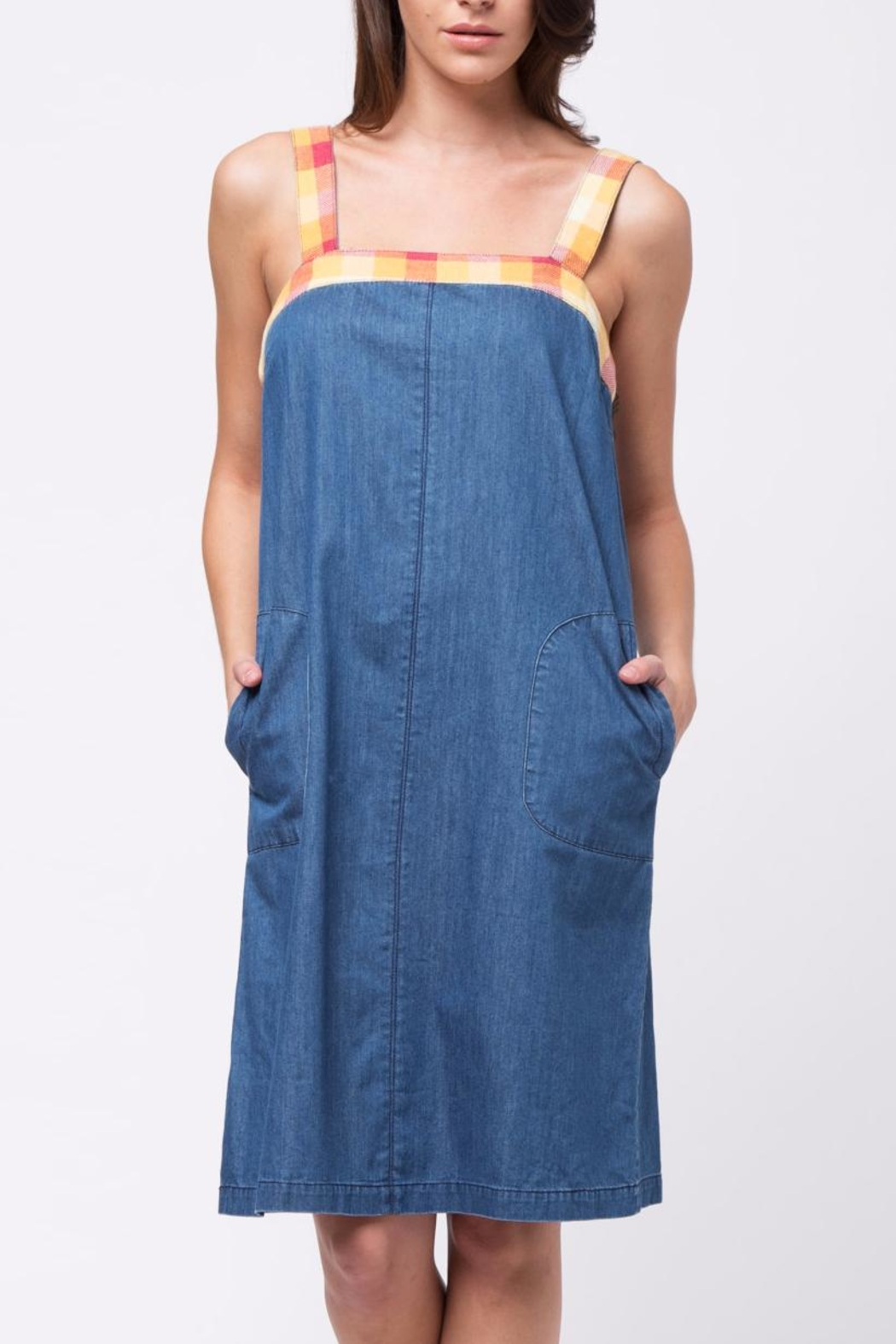 Movint Contrast Detailed Denim Dress - Main Image