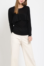 Movint Contrast Ruffle Sweater - Front cropped