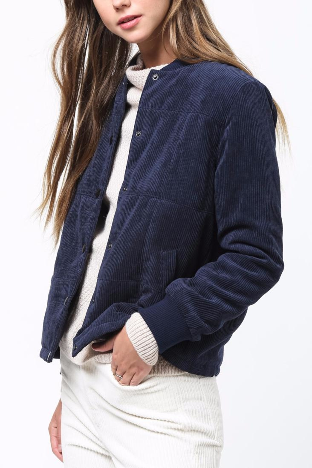 Movint Corduroy Padded Jacket - Side Cropped Image
