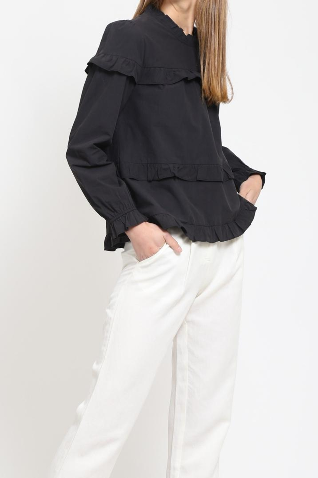 Movint Cotton Ruffle Top - Main Image