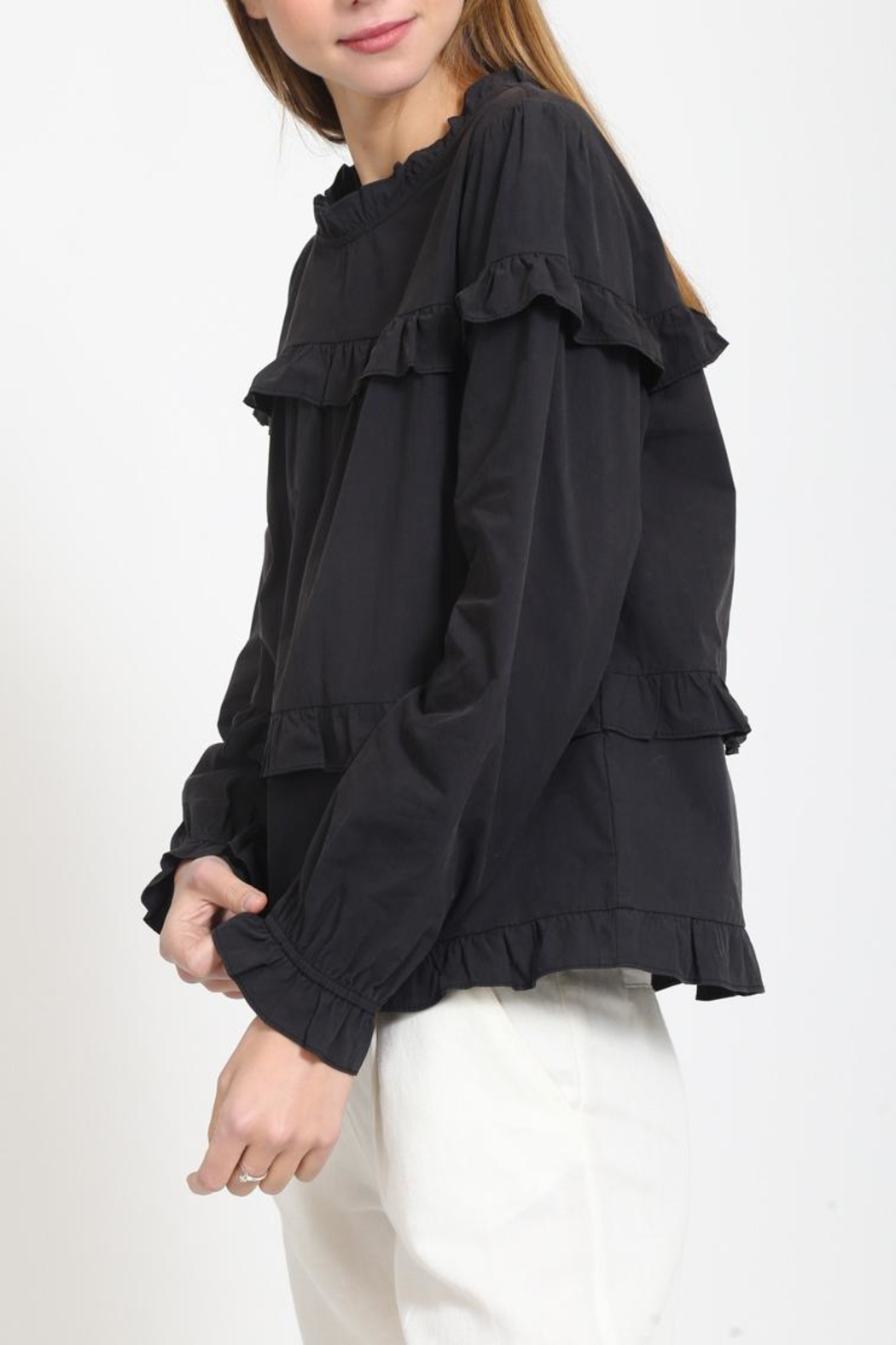 Movint Cotton Ruffle Top - Front Full Image