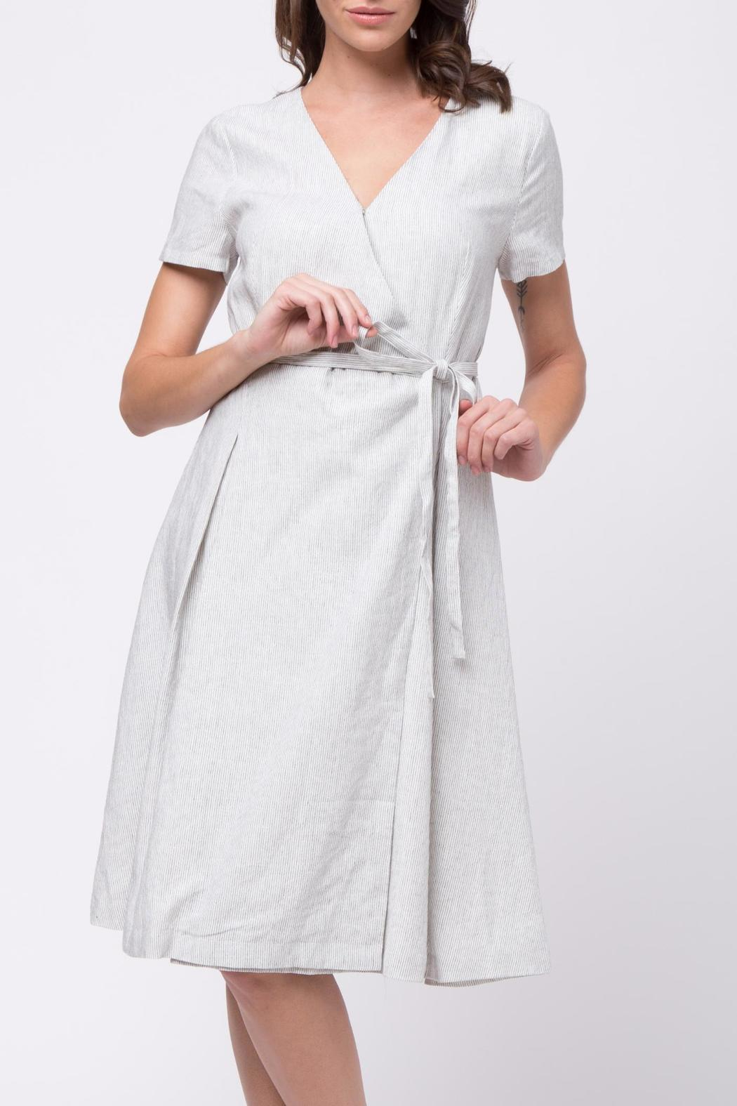 Movint Cotton Wrap Dress - Front Cropped Image
