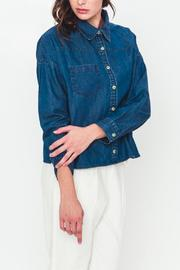 Movint Cropped Denim Top - Product Mini Image