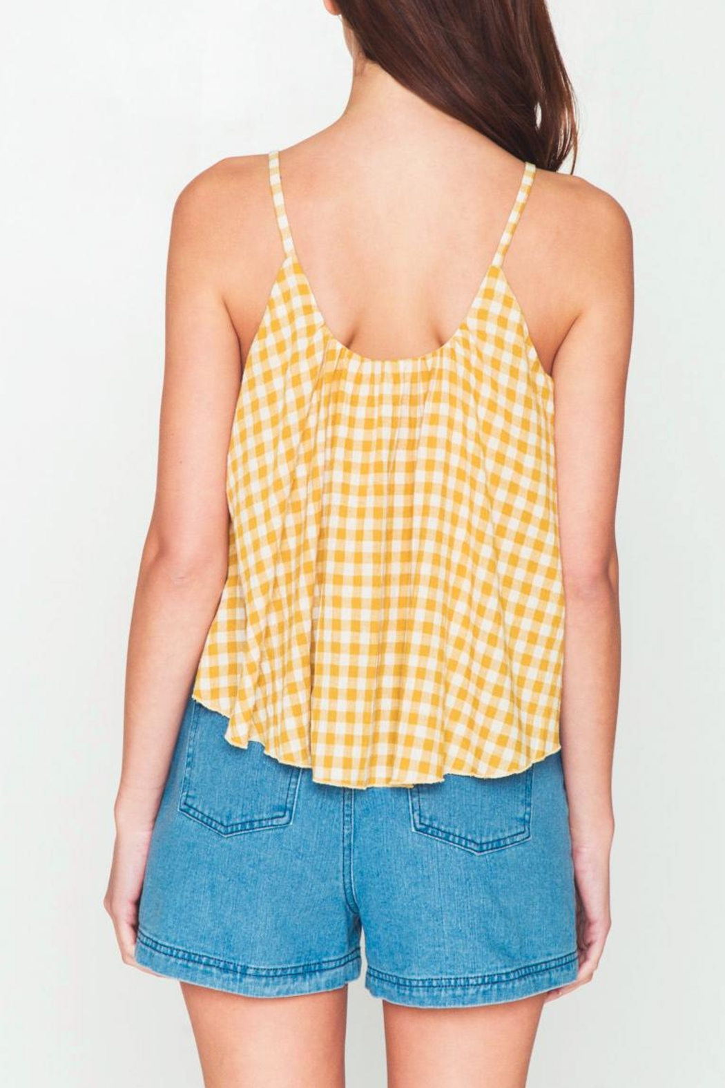 Movint Checkered Sleeveless Swing Top - Side Cropped Image