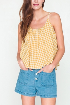 Movint Checkered Sleeveless Swing Top - Product List Image