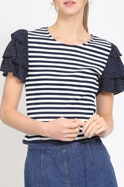 Movint Cropped Ruffle Top - Front cropped