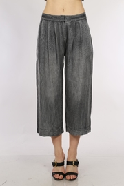Movint Gray Denim Culotte Pants - Front cropped