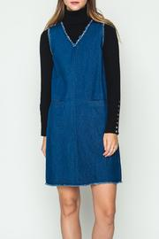 Movint Denim Frayed Hem Dress - Product Mini Image