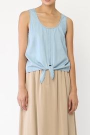Movint Denim Tie Tank Top - Front cropped