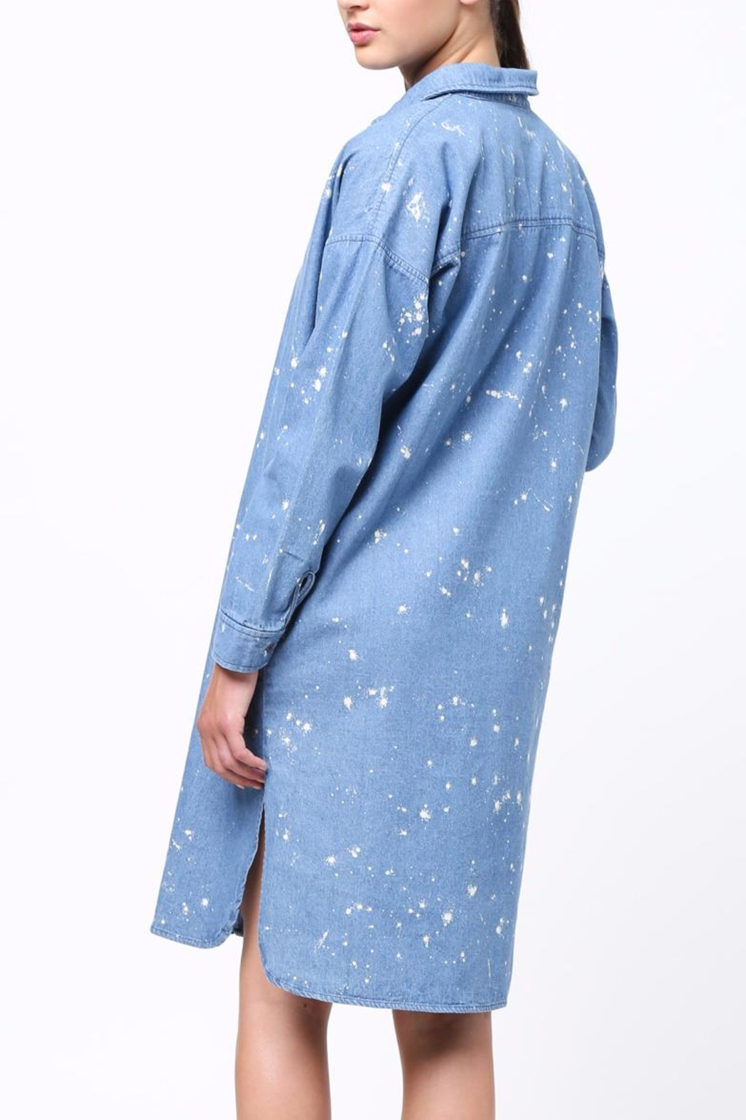 Movint Denim Shirt Dress - Front Full Image