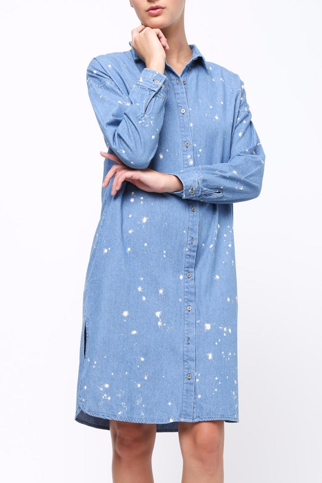 Movint Denim Shirt Dress - Main Image