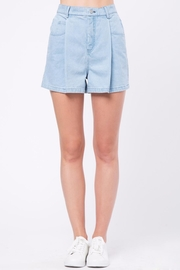 Movint Denim Pleated Shorts - Product Mini Image
