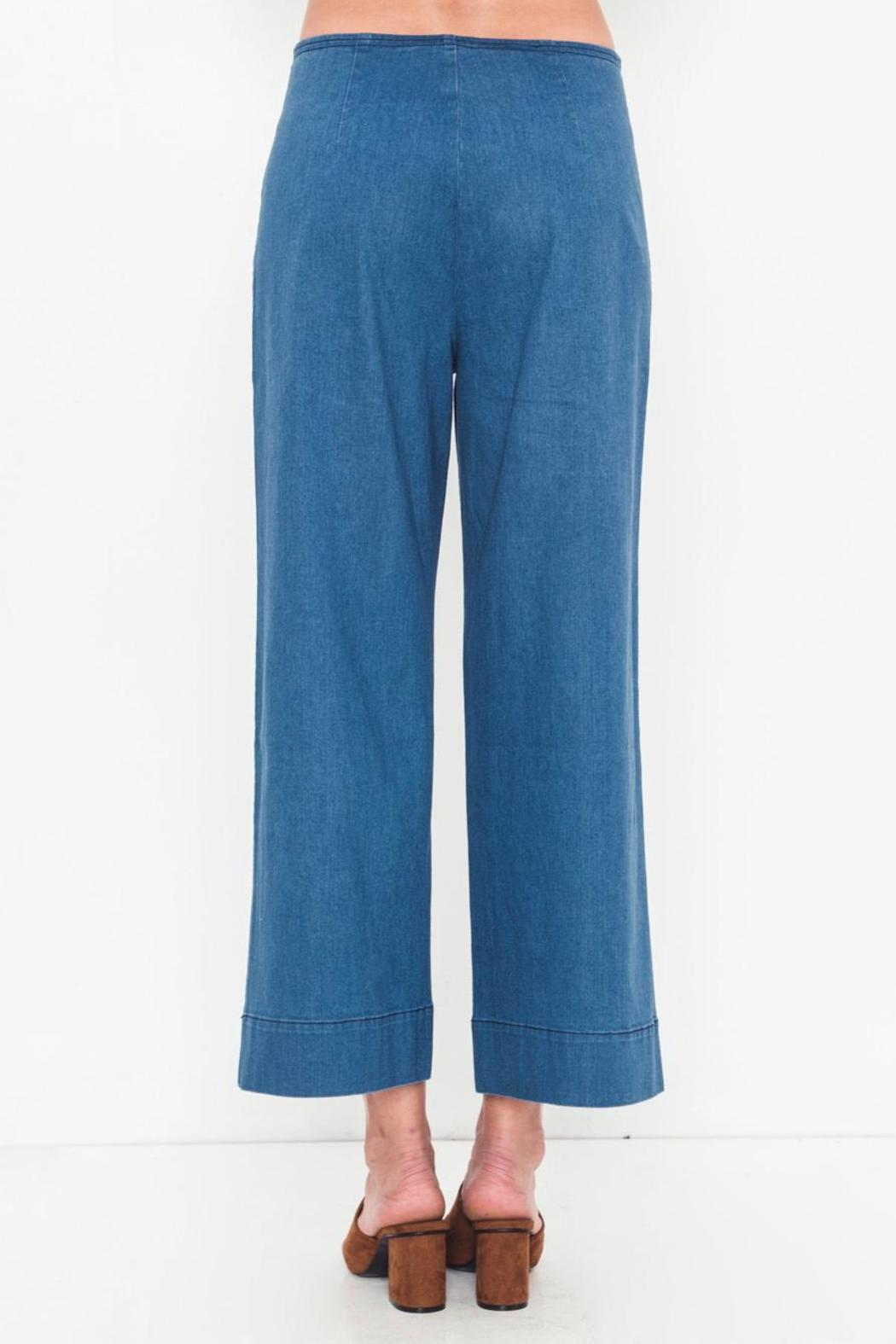 Movint Denim Side Button Pants - Side Cropped Image