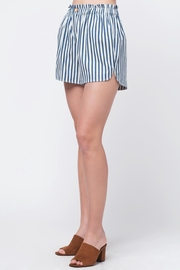 Movint Striped Waist Band Detail Shorts - Front full body